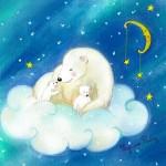 ours polaire au pastel