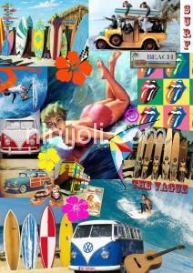 Tableau montage surf