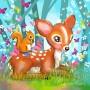 Coupon tissu Bambi