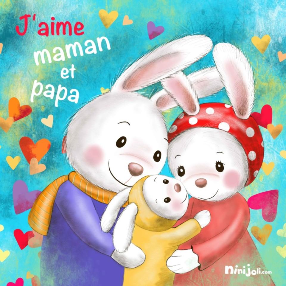 Tableau famille-lapins